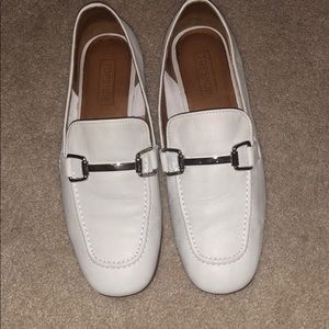 Pre-loved Topshop White Leather Loafers